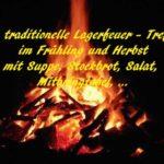 Lagerfeuer Treffen von Liebevoll leben und lernen